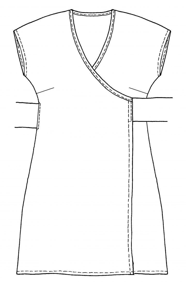 Wickelkleid nähen mit Gratis-Schnittmuster und Anleitung