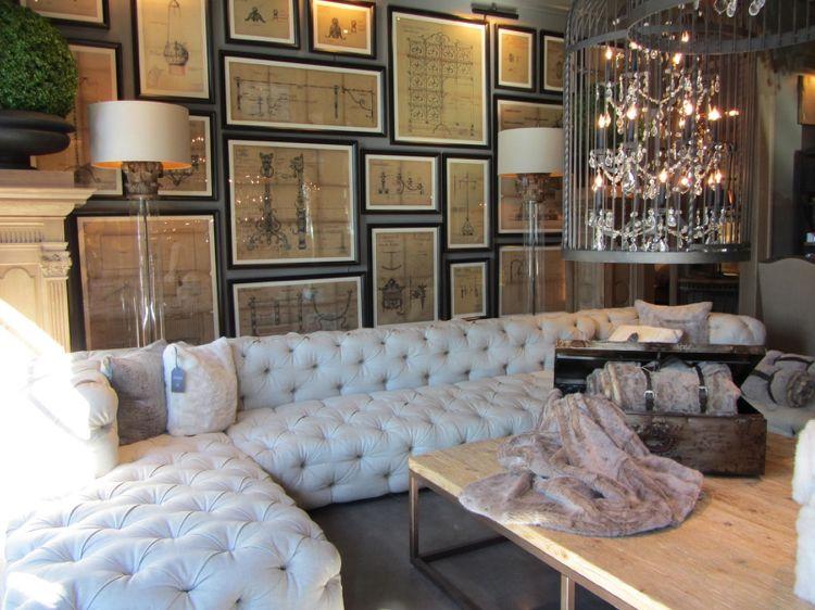 bilder-wohnzimmer-mdoern-bilderwand-weisse-couch Wohnideen - bilder für wohnzimmer