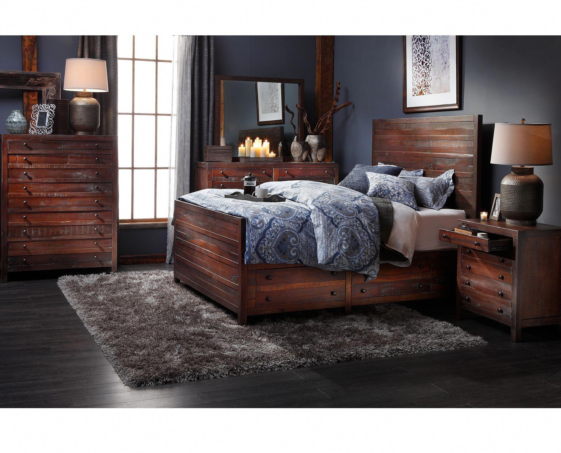 Jaipur Storage Bedroom Set - Furniture Row - $12