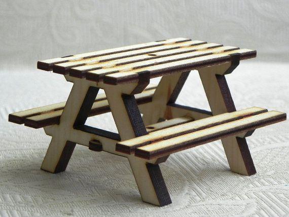 Il_570xN.820317667_jlvu.jpg (570×428)   Picnic Table, Table, Fairy Garden Accessories