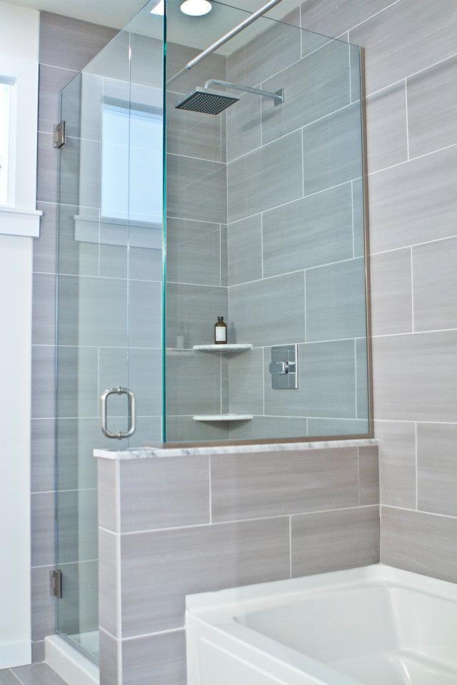 Oversized Porcelain Tiles With Carrara Accents Designed By - Bathroom tile philadelphia