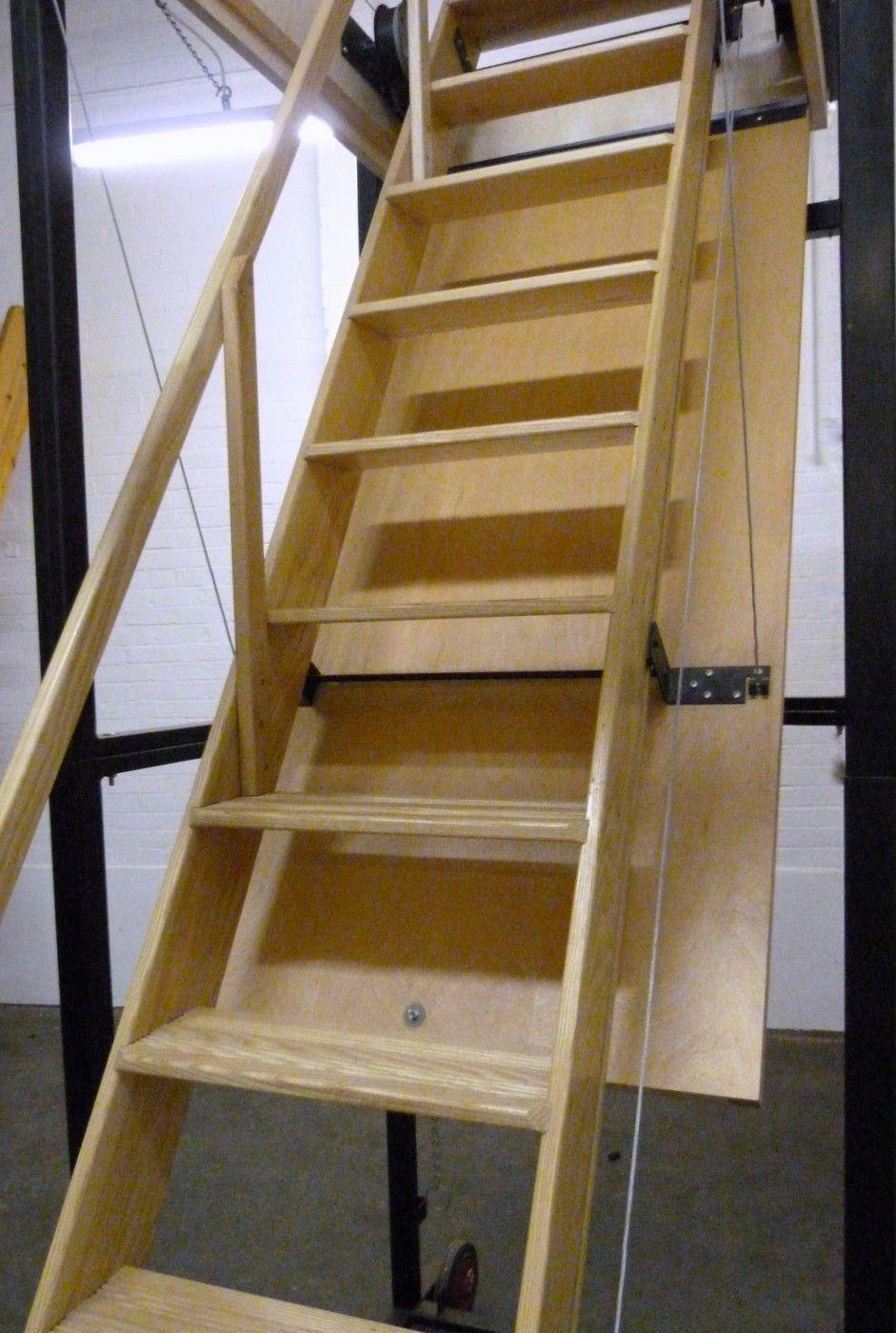 Folding Attic Ladder Small Opening Attic Stairs Folding Attic Stairs Stairs