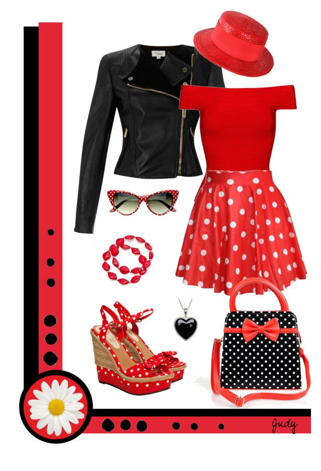 """Fresh and Dotty"" by judymjohnson ❤ liked on Polyvore featuring Temperley London, Miso, Kim Rogers, Posh Girl, Lord & Taylor, Retrò, Givenchy and WallPops"