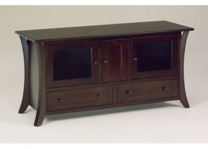 Caledonia Television Cabinet with One Middle CD- DVD Door