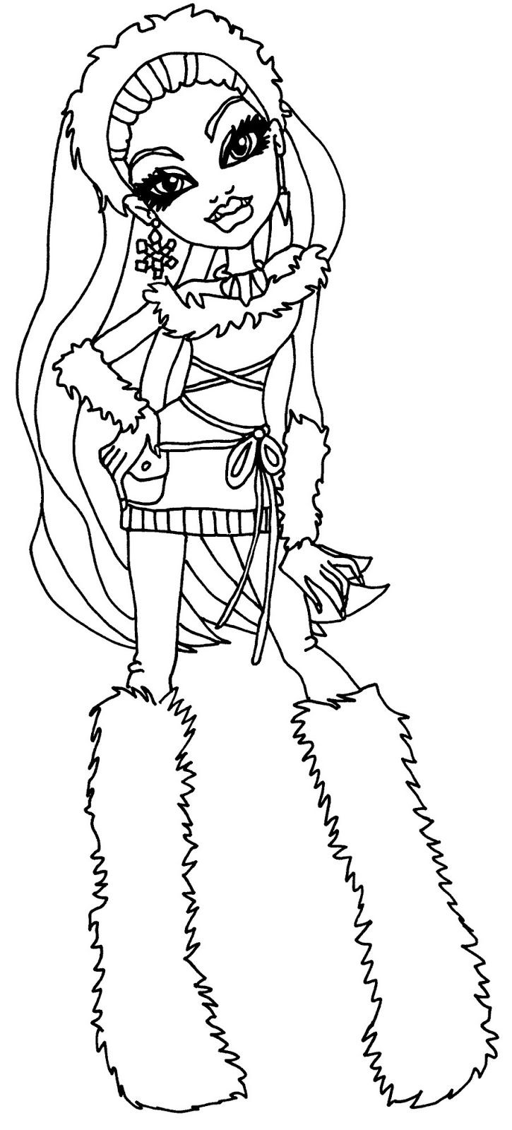 abbey bominable monster high coloring page coloring pages of