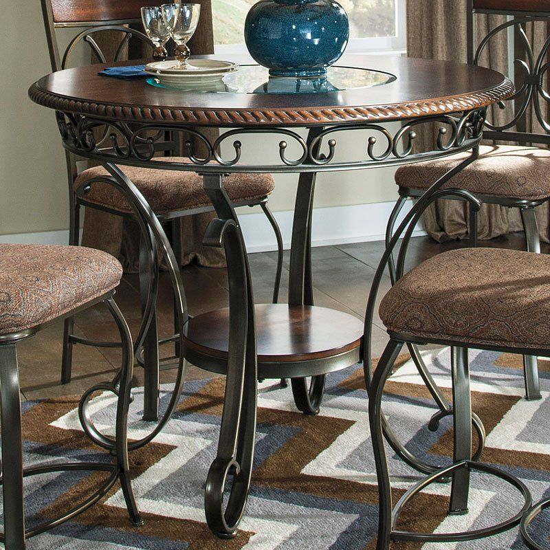 Glambrey Counter Height Table Metal Dining Table Wrought Iron Dining Table Counter Height Table