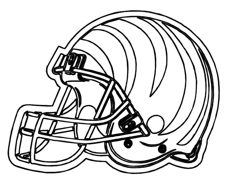 Pictures Football Helmet Cinncinnati Bengals Coloring