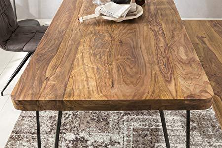 Finebuy Massiver Esstisch Harlem 160 X 80 Cm Sheesham Massiv Holz