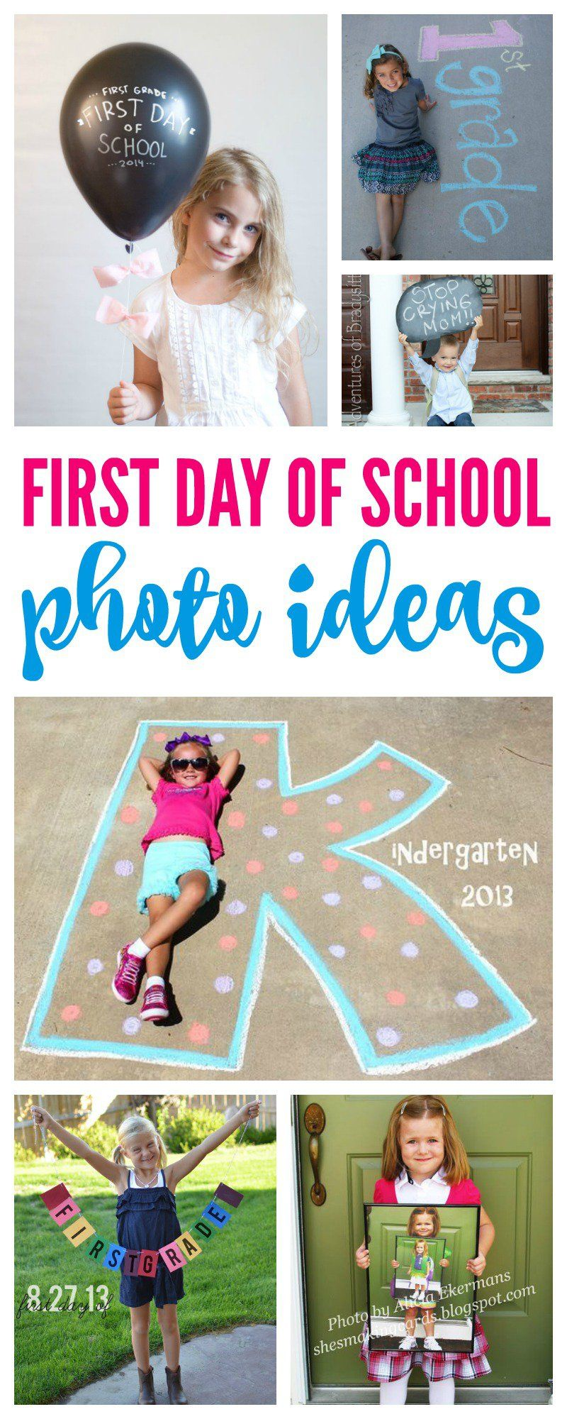 First Day of School Photo Ideas Pinterest #firstdayofschoolsign