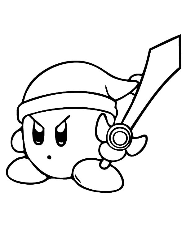 Kirby The Guardian The Kingdom Of Dream Land Coloring Pages Kids Play Color In 2020 Coloring Pages Free Coloring Pages Kirby
