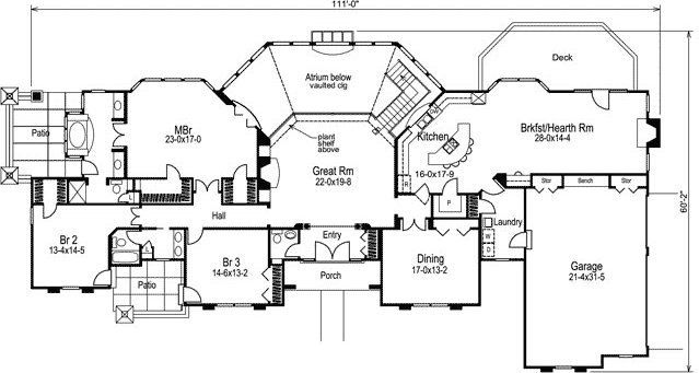 Monster House Plans provides home plans for construction purposes ...
