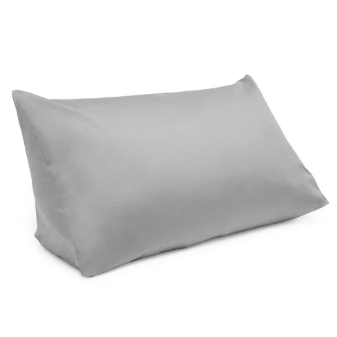 reading wedge pillow cover gray