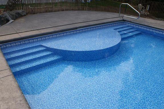 Inground Steps Aqua Blue Welland Pool In 2019 Vinyl