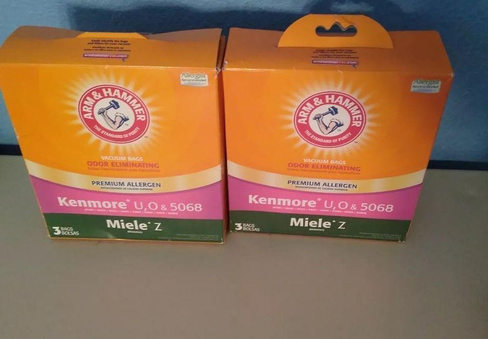 Arm Hammer Premium Odor Eliminating Vacuum Bags 6 Kenmore U O 5068 Lot Of 2