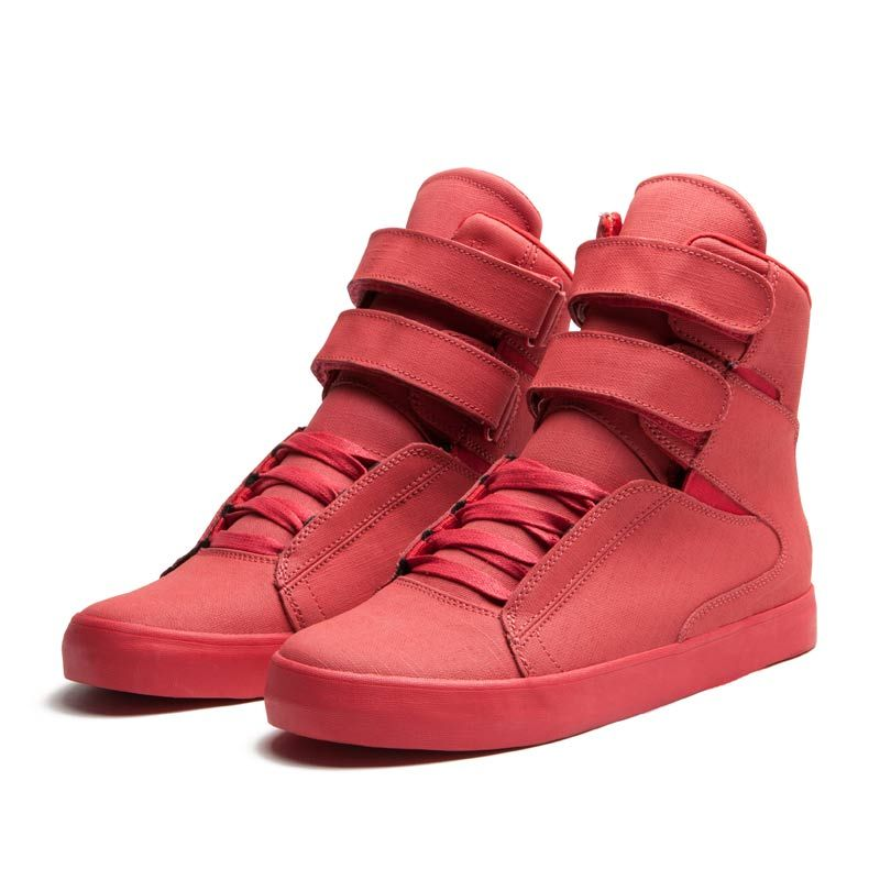 the best attitude d2853 1ce2c SUPRA Society High Tops, red.  150