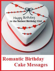 Birthday Cake Wordings Romantic