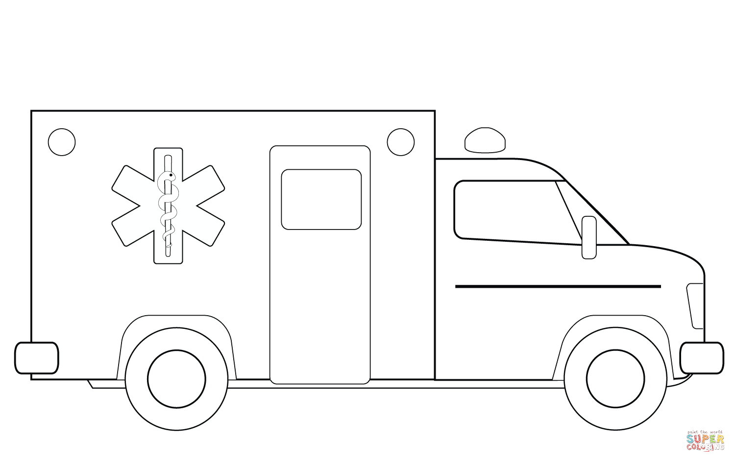Pin By Chris Conklin On Art Ambulance Truck Truck Coloring Pages Ambulance Craft