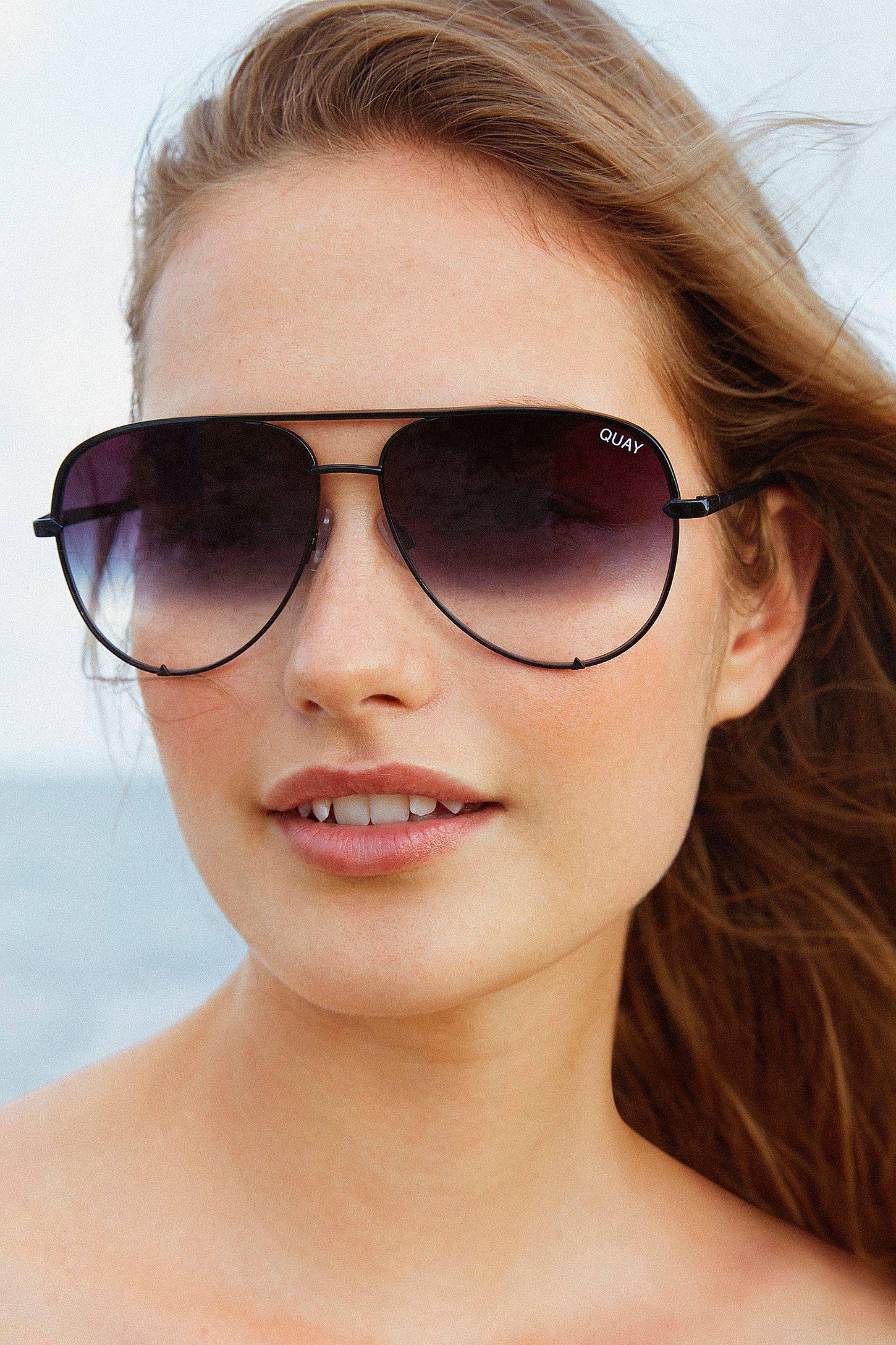 abcd2fb3c8d Slide View  1  Quay X Desi Perkins High Key Aviator Sunglasses