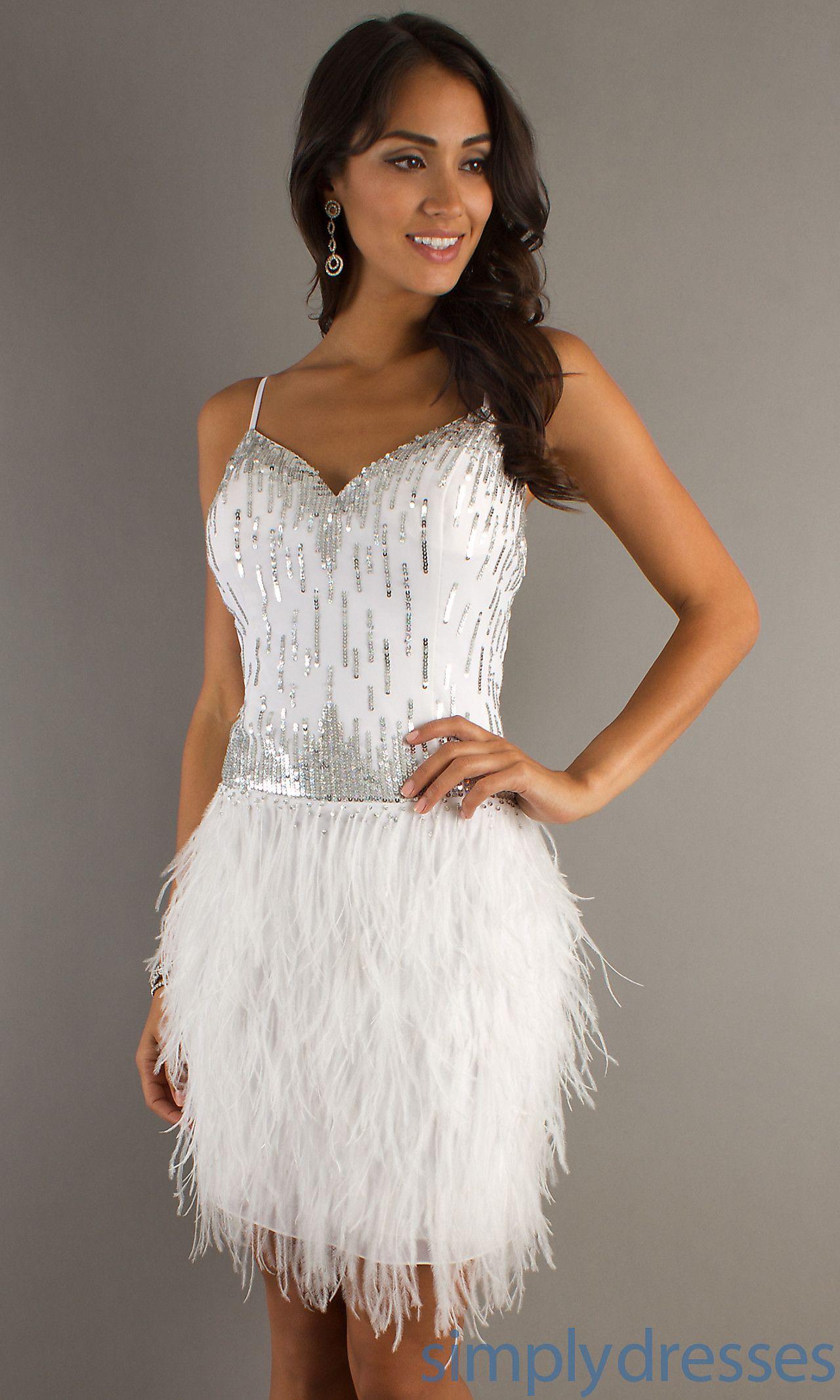 Dresses, Formal, Prom Dresses, Evening Wear: Short Spaghetti Strap ...