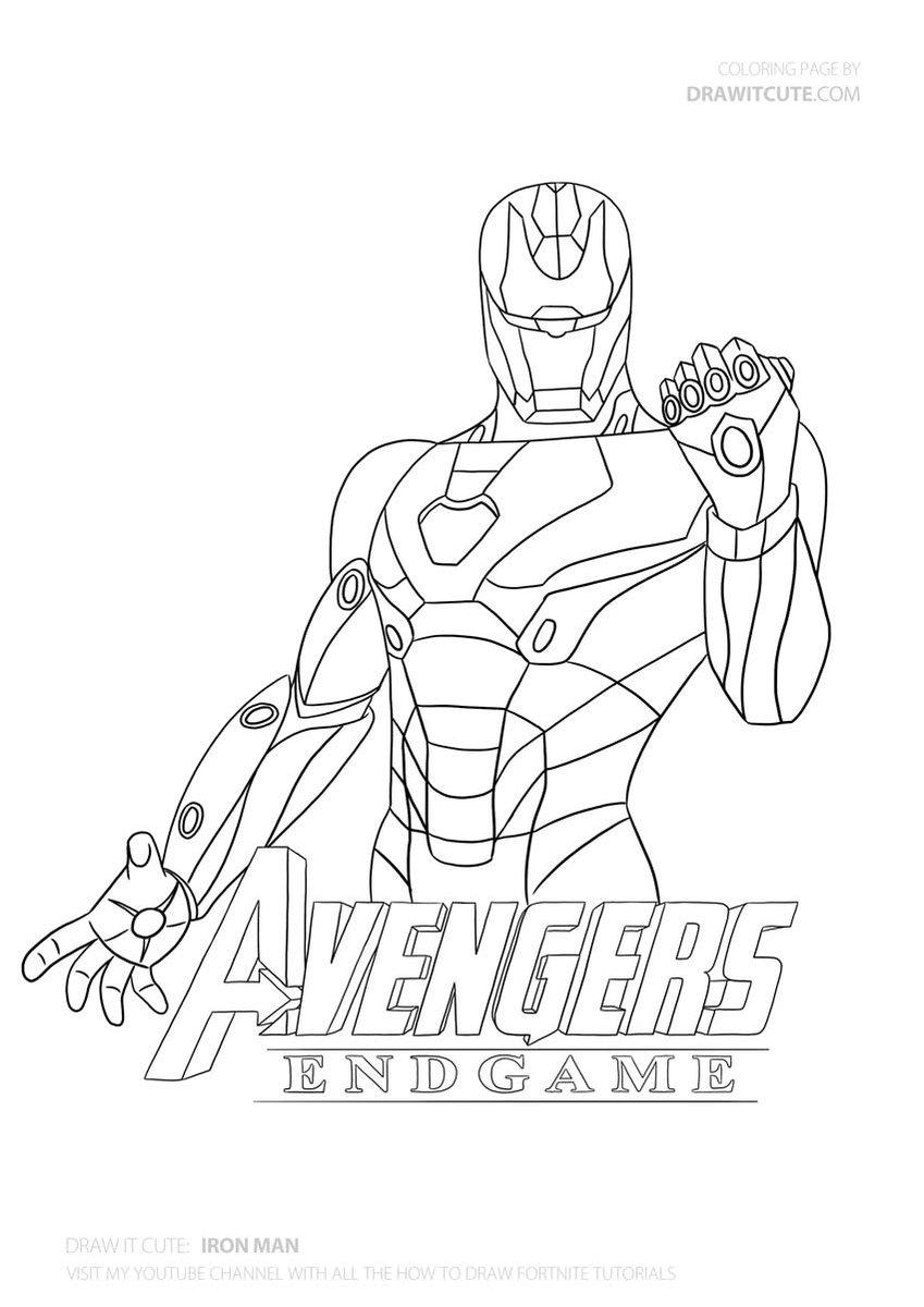 Avangers Iroman Ironman Ironmanarmor Avengersinfinitywar Endgame Drawitcute Howtodraw Color Color Drawing Superheroes Superhero Coloring Pages Iron Man