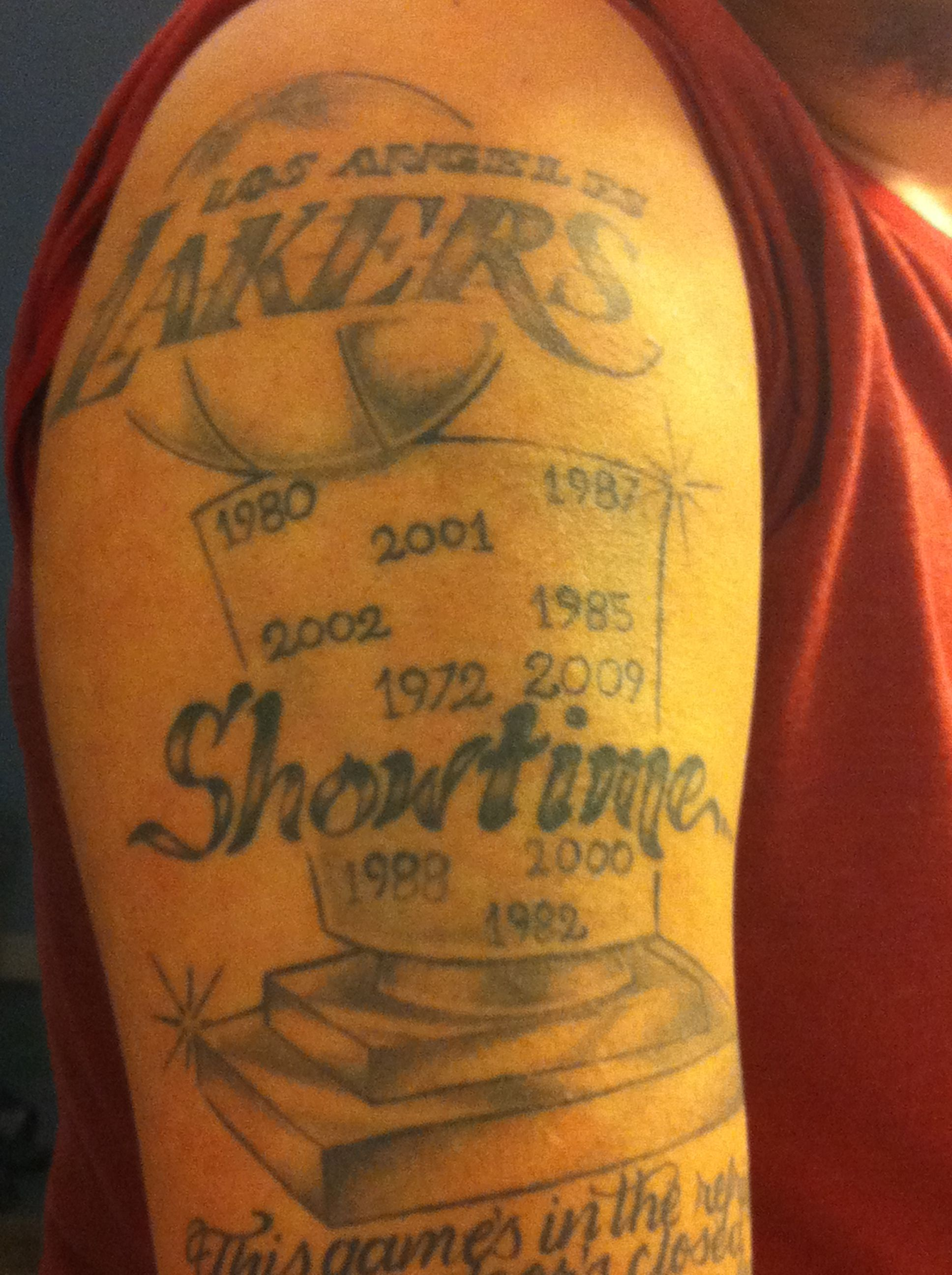 LAKERS TAT!!!! (With images) Lakers, Lakers vs, Nba teams