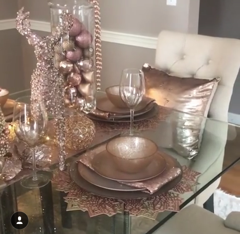 Rose Gold Tablescape Christmas Decor Pink Christmas Decorations Rose Gold Christmas Decorations Rose Gold Christmas