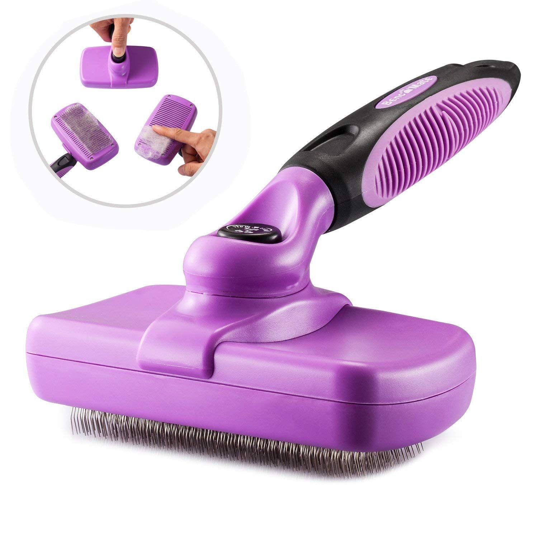 Self Cleaning Slicker Brush Pet Grooming Brush for Dogs