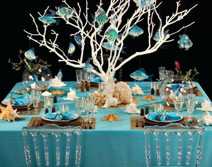 Underwater Themed Table Settings Google Search Beach Themed