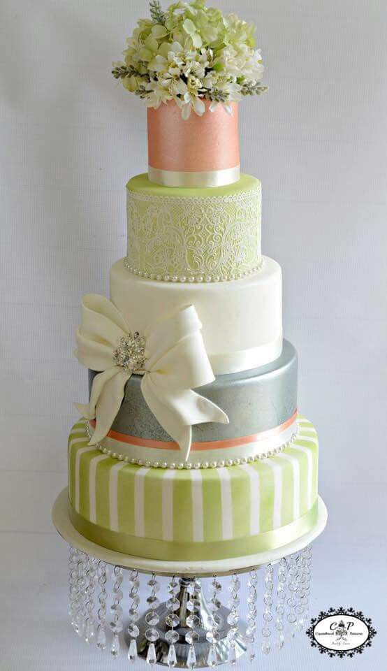 Cake Sample.  I think I'd leave out the sea foam green color.