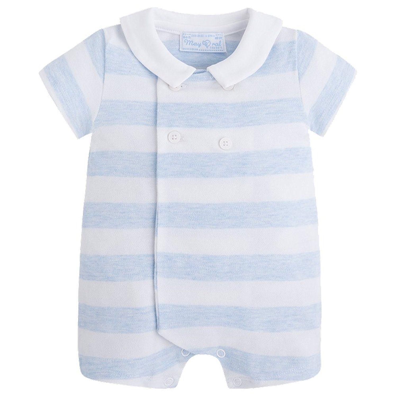 6d6834a5f Amazon.com: Mayoral Blue Stripe Romper: Clothing | Baby Gear ...
