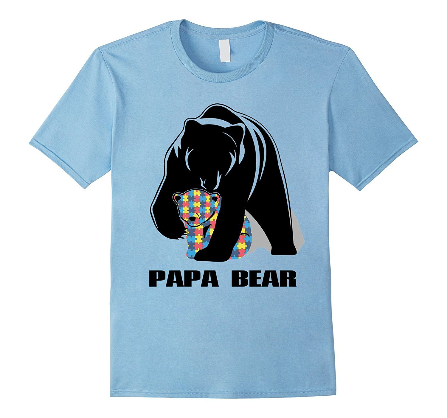 Amazon.com: 2017 Autism Papa Bear Shirt: Clothing | TShirt ...