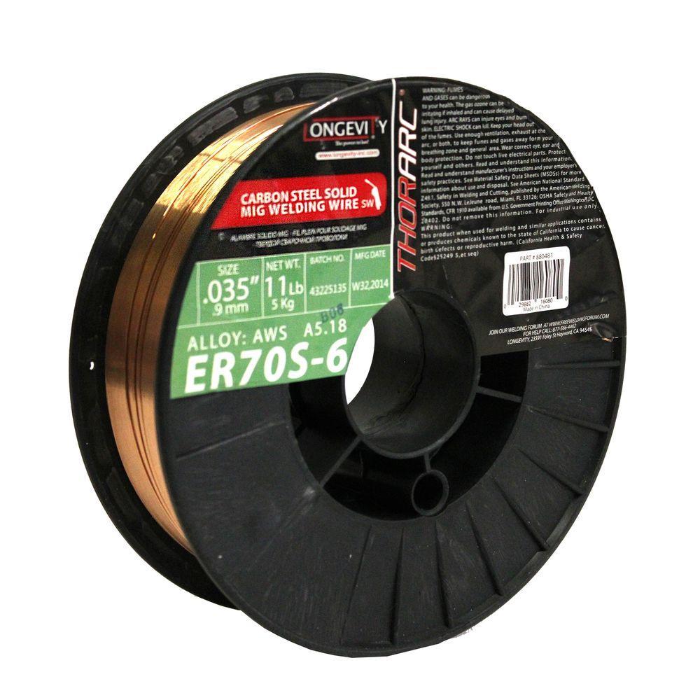Longevity Er70s 6 0 035 In Thor Arc Mig 11 Lb Wire Mig Welding