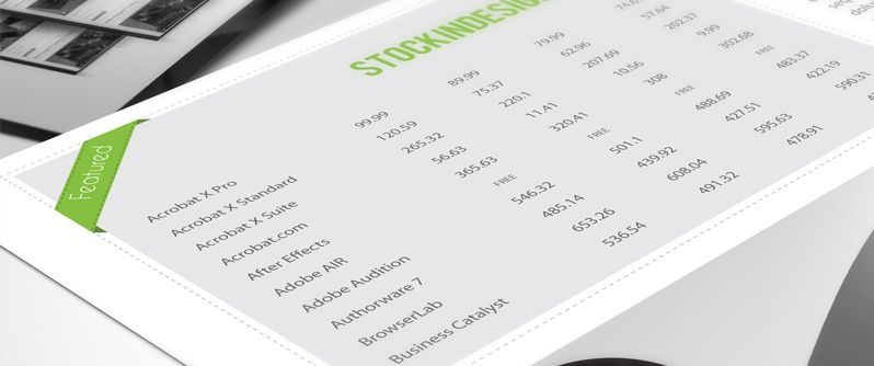 5 Awesome Table Styles for Adobe InDesign   Insp. Design   Tables ...