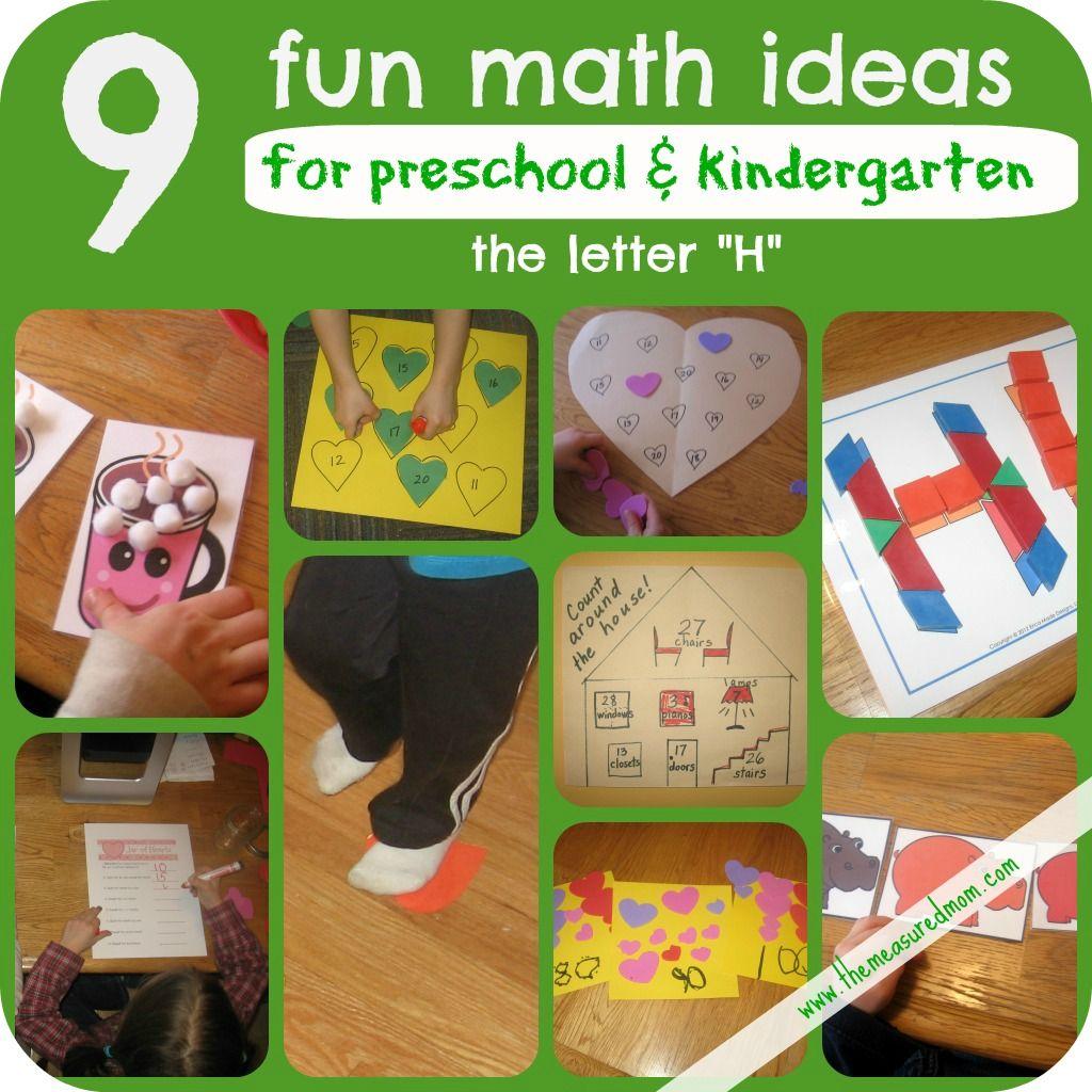Letter H Math Activities