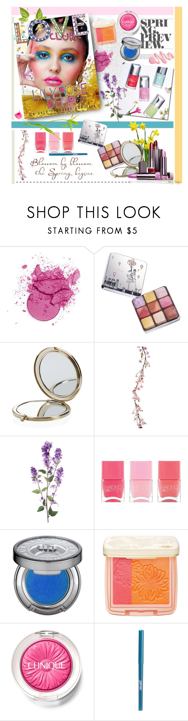 """Spring Preview: Lilly Rose Depp"" by mcheffer ❤ liked on Polyvore featuring beauty, Lancôme, Henri Bendel, Nails Inc., Urban Decay, Paul & Joe Beaute, Clinique, jane, Spring and Beauty"
