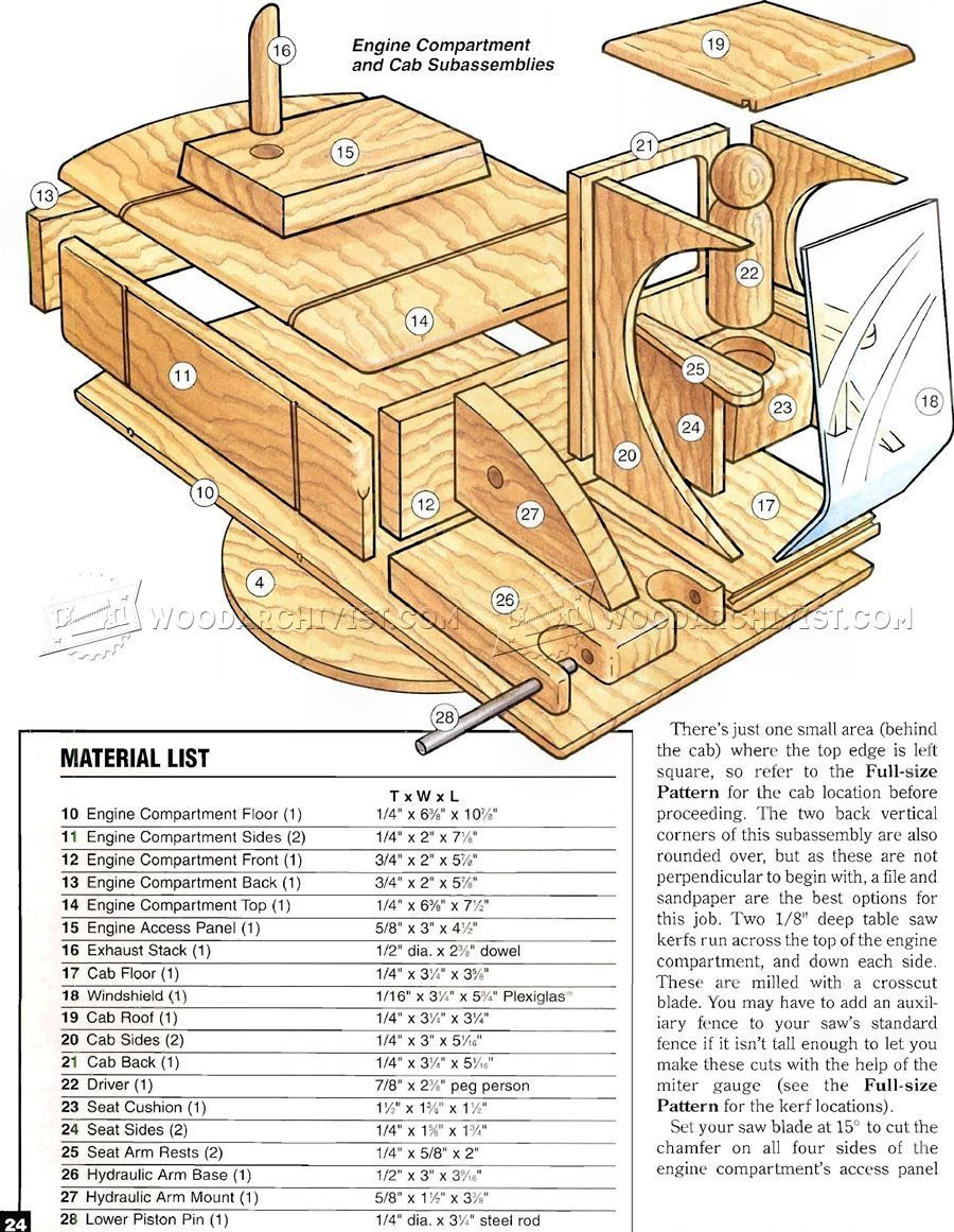wooden toy digger plans small wooden toy ideas for weekend