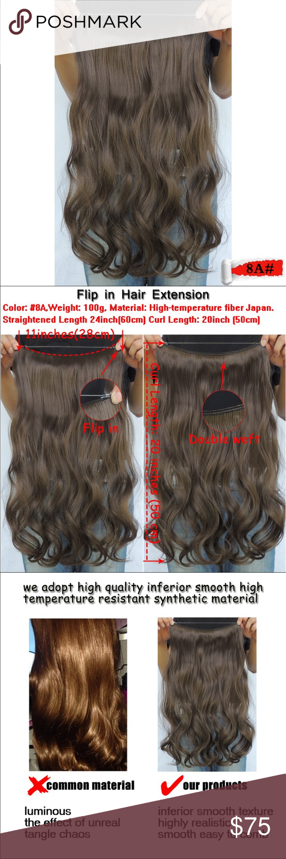 Hair Extension Wire 100 G Mega Hair In Extensions Curly Rust Brown