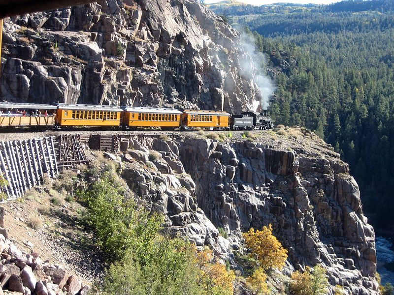 Durango to Silverton Colorado train ride