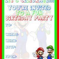 Free printable mario party invitation super mario party printable mario and luigi birthday party invitation printable birthday invitation cards free printable invitations filmwisefo
