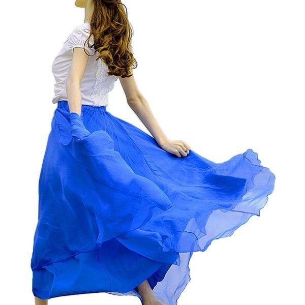 ACEVOG Women's 6-layer Tutu Ballet Ruffle Bridal Petticoat Princess... (93 CNY) via Polyvore