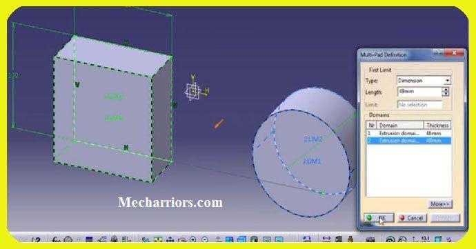 How to use Multi Pad Feature in CATIA V5? | CATIA V5 CLASSES