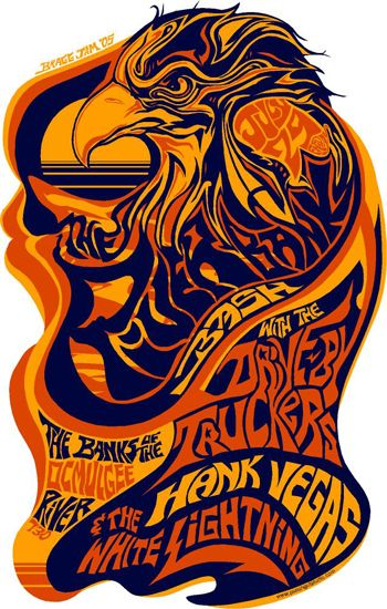 GigPosters.com - Drive-by Truckers - Vegas, Hank - White Lightning, The