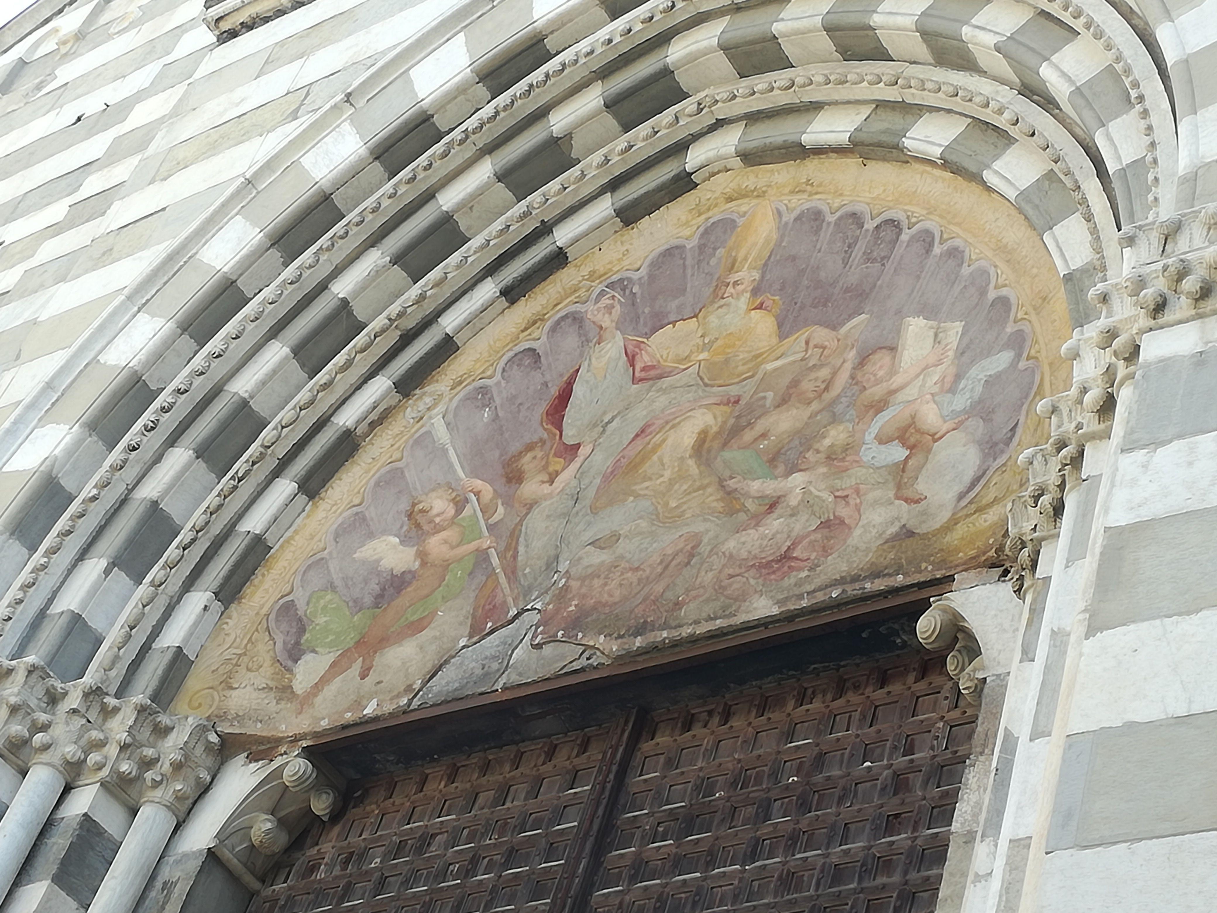 Museo di Sant'Agostino - Genova. Particolare lunetta ...