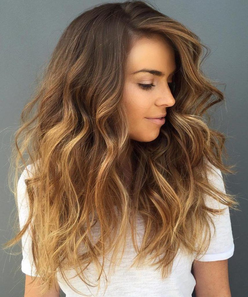 Honey Blonde Balayage With Soft Brown Roots You Are Going To