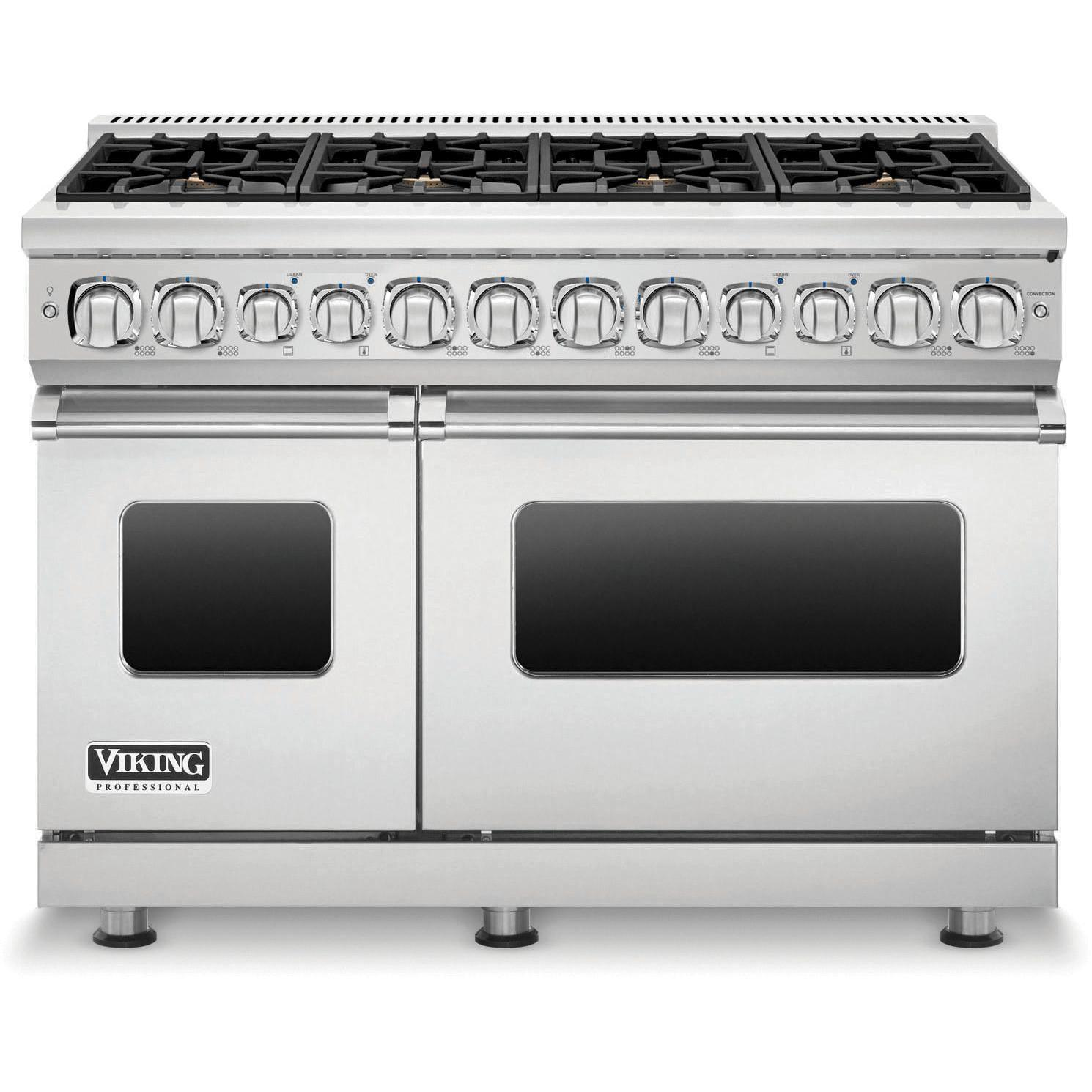 Viking Professional 7 Series 48 Inch 8 Burner Natural Gas Dual Fuel Range Stainless Steel Vdr7488bss Convection Cooking Open Concept Kitchen Oven Racks