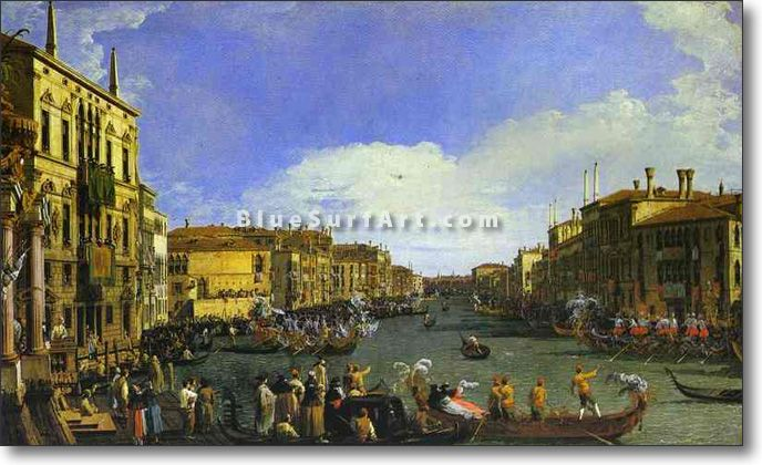 A Regatta on the Grand Canal - £124.99 : Canvas Art, Oil Painting Reproduction, Art Commission, Pop Art, Canvas Painting