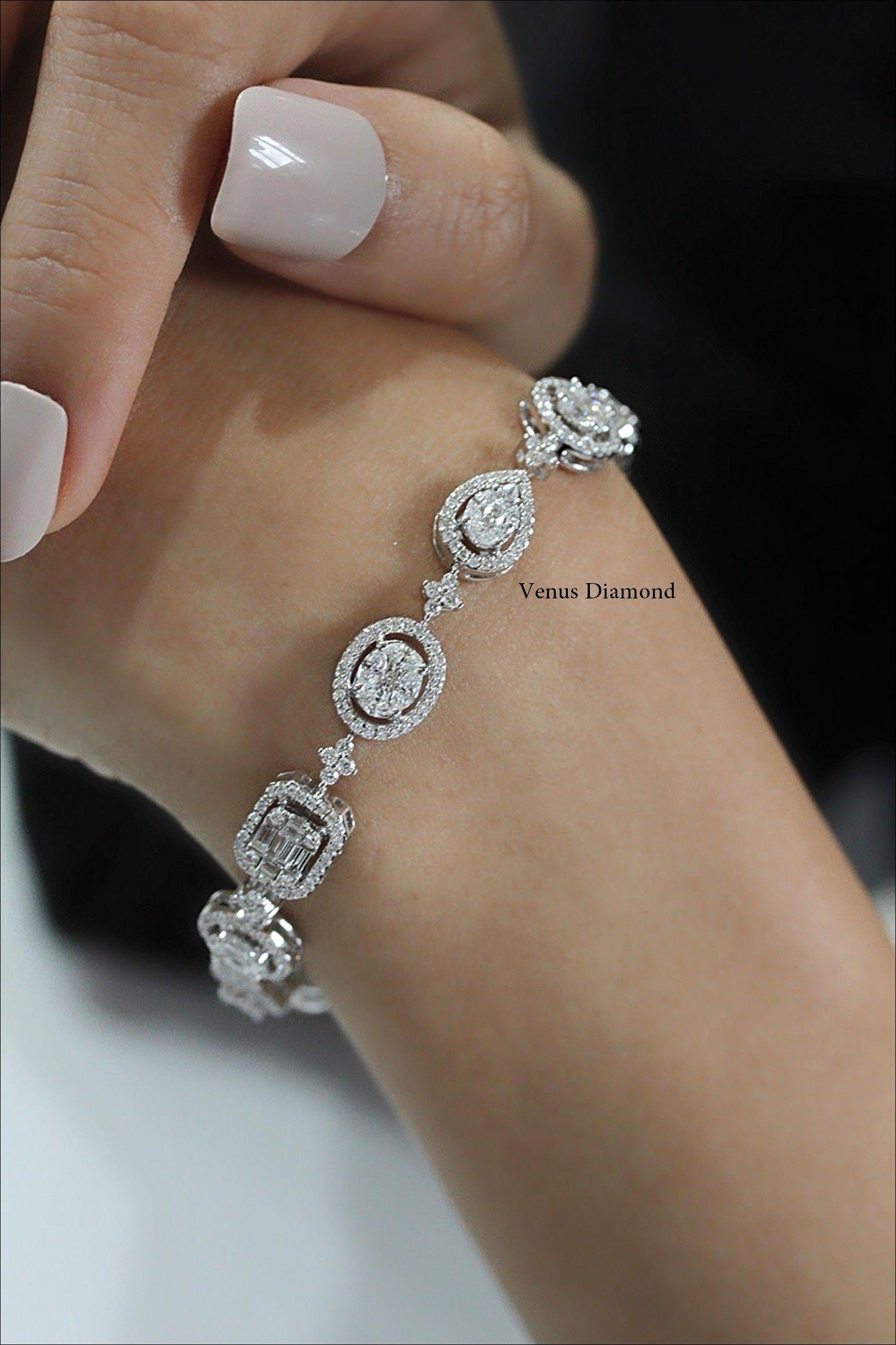 Illusion Setting Diamond Tennis Bracelet Tennis Bracelet Diamond Jewelry Tennis Bracelet
