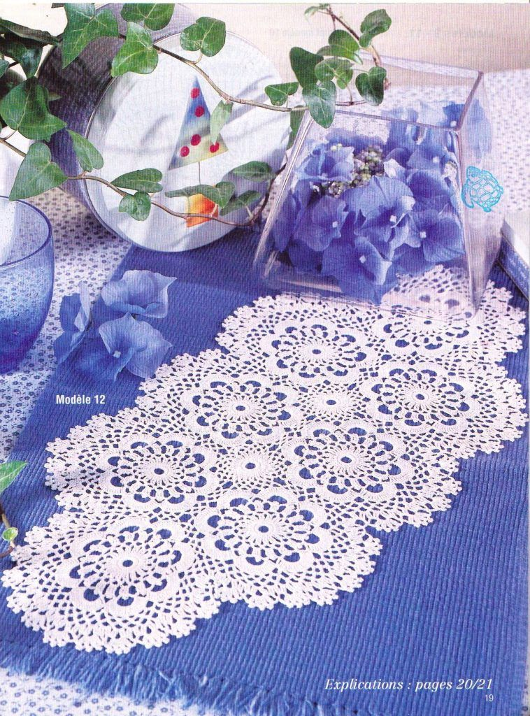 Oval Flowers Crochet Doily Pattern Crochet Doily Patterns Flower