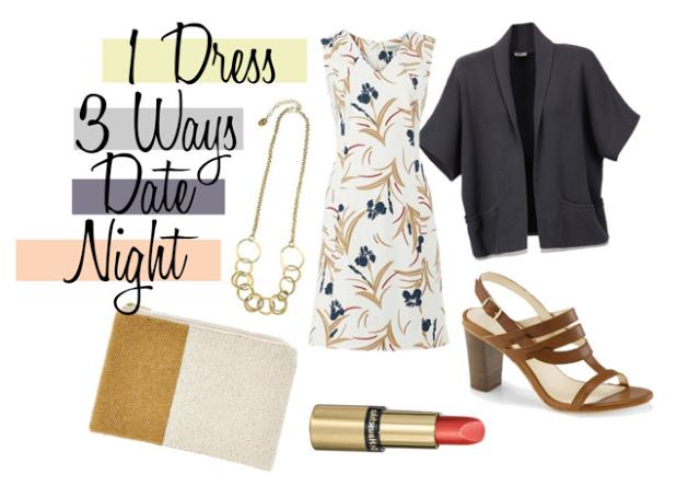 Fair Fashion Inspiration: 1 Dress 3 Ways Date Night // Nachhaltige Mode 1 Kleid 3 Outfits Ausgehoutfit