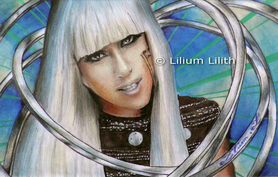 Dessin original aux feutres. Lady Gaga : Dessins par ...